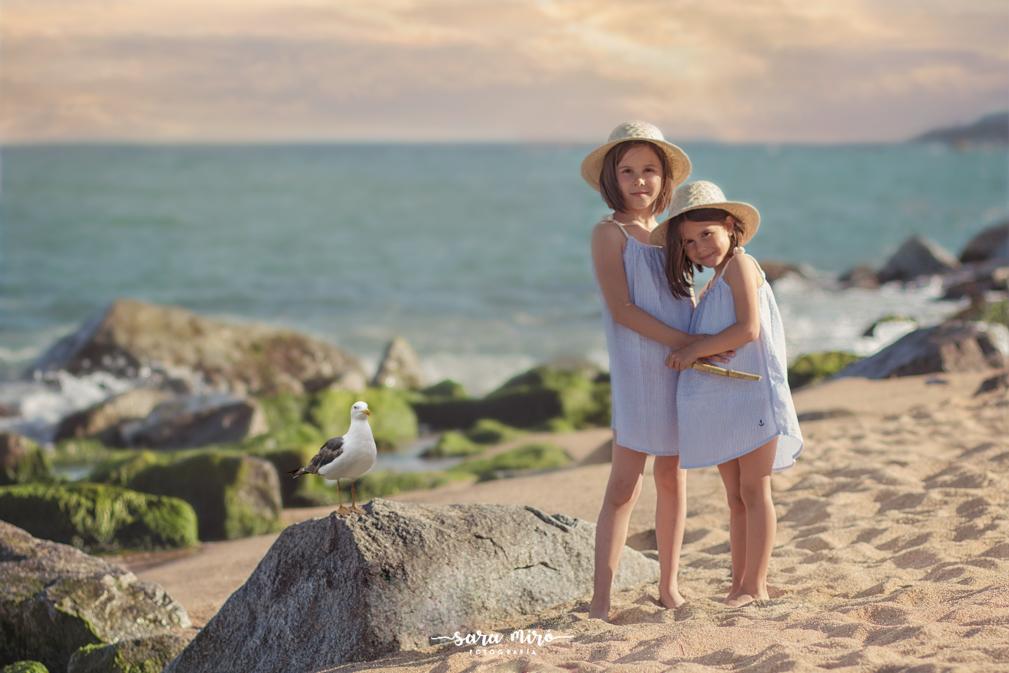Sesión infantil creativa en la playa