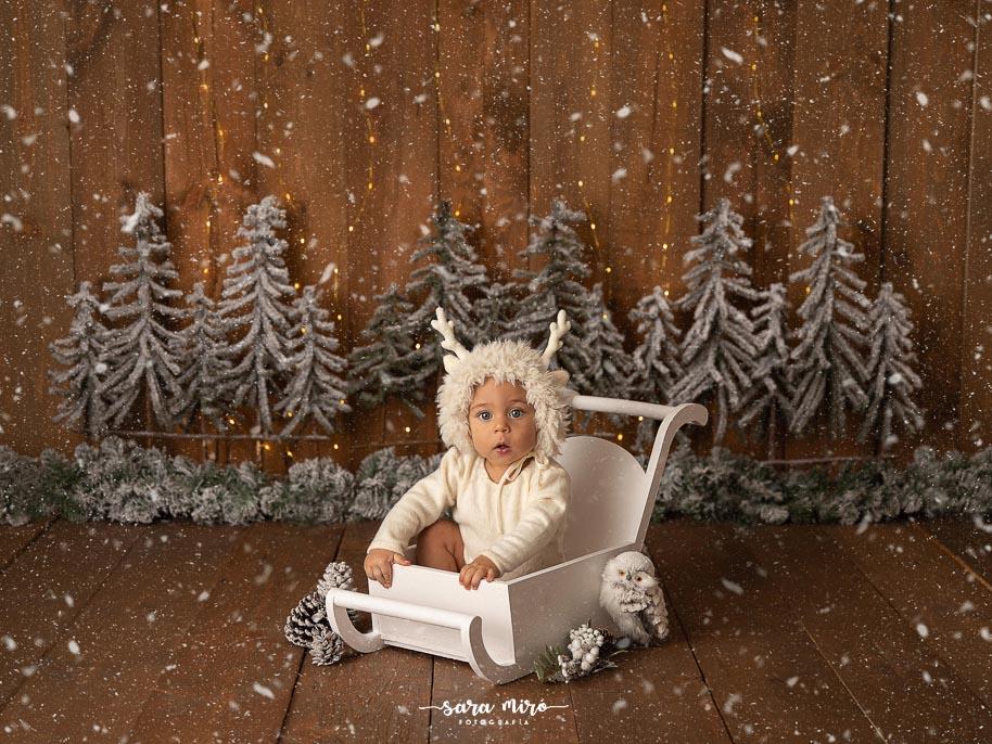 Sesión de fotos de bebé Navidad en Alcalá de Henares, Madrid